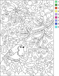 Christmas Color By Number Coloring Pages Free Printable Christmas