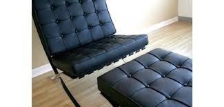 fabulous black leather chair with ottoman barcelona style chair and ottoman in black leather
