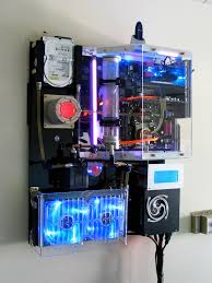 custom computer case wall mounted pc