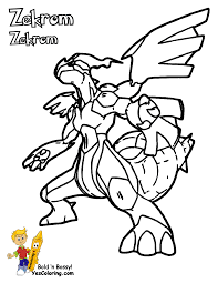 Small Picture Pokemon Coloring Pages Black And White Zekrom