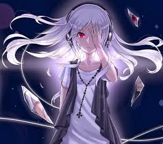 female anime characters with white hair. Plain Hair Headphones Long Hair Red Eyes Bandaids White Anime Girls  Original Characters Shattered Glassjpg To Female Anime Characters With White Hair R