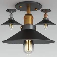 retro semi flush ceiling light 106478