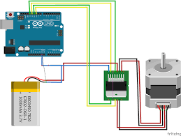 fritzing project stepper motor for arduino repoprojectssstepper connection diagram of single phase motor at Wiring Diagram For Forward Reverse Single Phase Motor