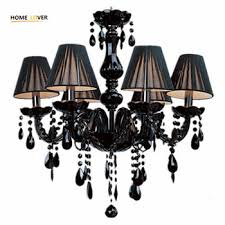 small black glass chandelier wh cy 22