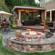 garden fire pit. Picture Of Cozy Fire Pit Zone Designs For Your Garden 8
