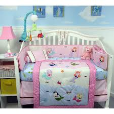 image of mermaid nursery bedding decor