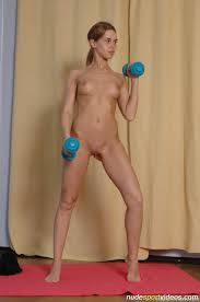 Nude teen workout video