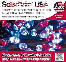 solar fairy string lights 120led super bright patriotic