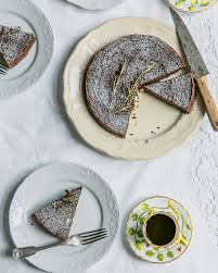 It starts with mushrooms, garlic, shallots and chestnuts cooked in butter (the smell of which alone is enough to make me drool a little). Flourless Chocolate Chestnut Rosemary Cake Delicious Magazine