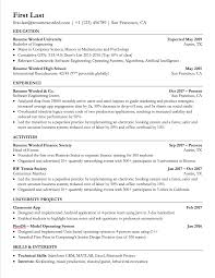 Resume Templates For Banking Professionals Experienced Software
