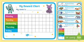 Lol Sticker Chart My Sticker Reward Chart Ks1 Resource Teacher Made