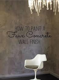 diy home decor how to paint a faux concrete wall finish wall finishes concrete walls and concrete