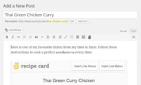 Recipe Card: A Free Wordpress Plugin For Publishing Recipes