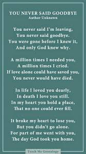 Loss Of A Loved One Quotes Cool Pretty Dad You Never Said Goodbye A Poem About Losing A Loved E