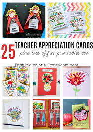 Printable Thank You Cards For Teachers 25 Awesome Teachers Appreciation Cards With Free Printables