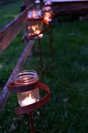 3 quart size metal candle lantern mason