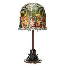 stained glass table lamp river of goods style pond lily pool patterns