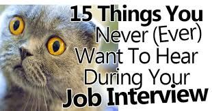15 Things You Never Ever Want To Hear During Your Job Interview