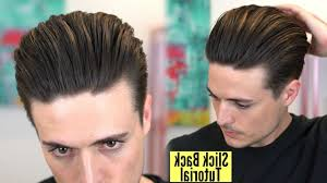 Slicked Back Hair Style slicked back undercut hairstyle tutorial fade haircut 6951 by wearticles.com
