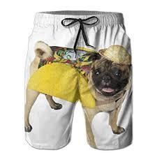 pug in taco costume. Beautiful Taco ZADEAS Gentleman Casual Classic Fit Style Pug Dog Taco Costume  Beach Short Pants Inside In T