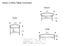 coffee table size round coffee table by coffee table size book