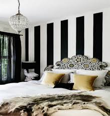 Black And White Striped Bedroom Ideas