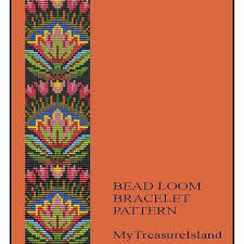 Bead Loom Patterns Stunning Bead Loom Folk Art Flowers Motif 48 From MyTreasureIsland On Etsy