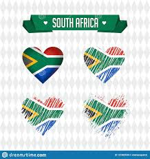 South Africa Graphic Design South Africa Collection Of Four Vector Hearts With Flag