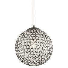 glass orb lighting. Kichler Krystal Ice 11.81-in Olde Bronze Single Crystal Orb Pendant Glass Lighting A