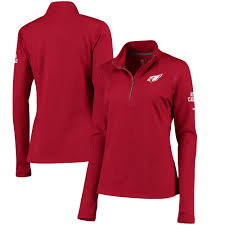 women s arizona cardinals nike cardinal tailgate element half zip performance jacket