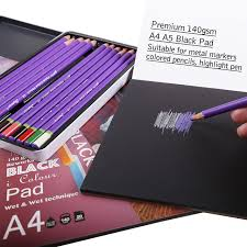 Dainayw 140gms 20Sheet Black Paper Cardboard Notebook Sketch Book ...
