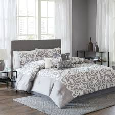 The 25 Best Grey Comforter King Ideas On Pinterest King Beds ... & Aliexpress Buy Silver Bedding Sets Grey Silk Satin Pertaining To California  King Size Comforter Sets Decorating ... Adamdwight.com