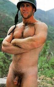 Hairy Military Army Men Nude