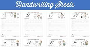 Hand Writing Sheets Free Printable Cursive Handwriting Sheets Southern Savers
