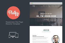 Flatfy  Responsive Resume CSS Format Download