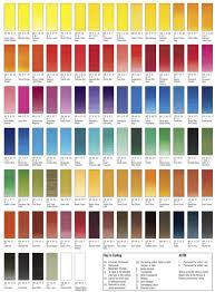 Sennelier Watercolor In 2019 Paint Color Chart Sennelier
