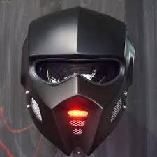2017 matt black bat man mask motorcycle helmet open face lamp red