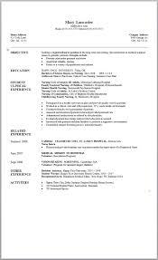 student nurse resume objective coverletter for jobs