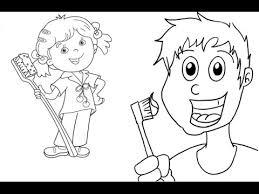 brushing teeth drawing. Exellent Brushing Get Your Kids To Brush Their Teeth  Drawing A Cartoon Toothbrush On Brushing