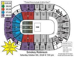 Smokey Robinson Inside Robinson Center Seating Chart