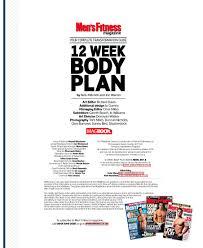 men s fitness 12 week body plan mens health by nick mitc pdf