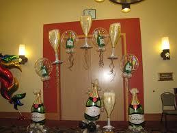 Champagne Bottle Decoration Champagne Party Decorations Adult Balloon Decor Pinterest