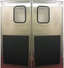 swinging kitchen door. Stainless Steel Restaurant Traffic Door With Kick Plates. Swinging Kitchen G