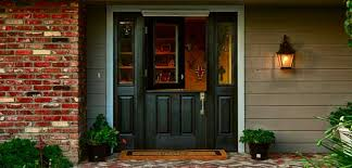 black front door with sidelightsTrendy Black Front Doors for 2017  Todays Entry Doors