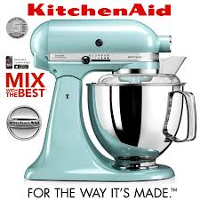 Kitchen Aid Ice Blue Kitchenaid Artisan Stand Mixer Set 1 Ice Blue Cookfunky