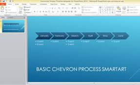 Powerpoint Chevron Template Horizontal Process Timeline Template For Powerpoint 2013