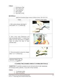 k 12 module in tle 8 electrical 3rd grading livelihood education 23 tools 1 combination plier 2 side