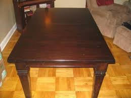 500 used pottery barn montego straight leg dining table with leaf