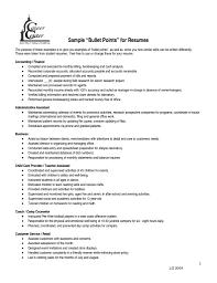 Resume Bullet Points Resume Points Templatesinstathredsco