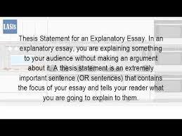what is an explanatory thesis statement  what is an explanatory thesis statement